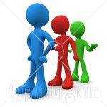 15407-Line-Of-Different-Colored-People-Getting-Impatient-And-Tired-Of-Waiting-Clipart-Illustration-Image